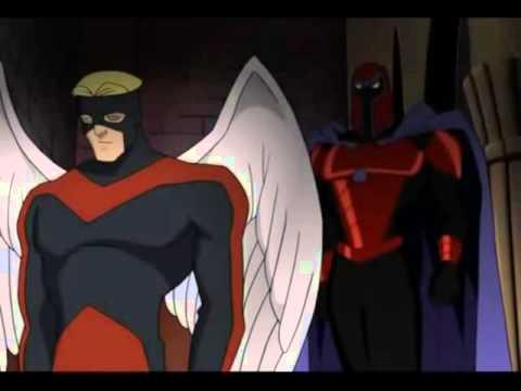 x men evolution angel meets magneto youtube