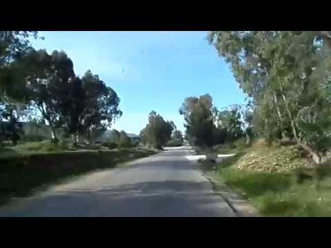 Road of Ain Draham to Tabarka (Tunisia)