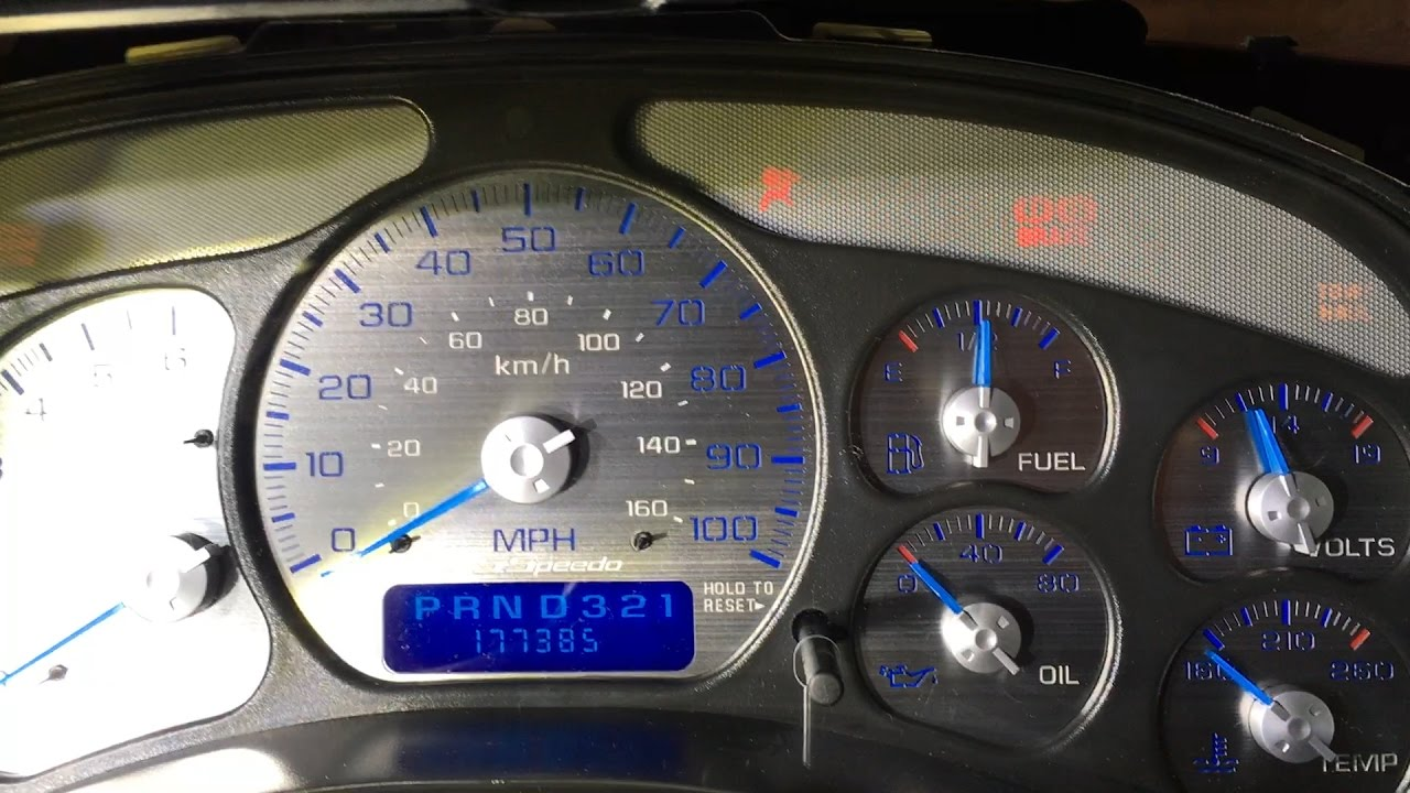 Stainless Steel Gauge Face Overlay Install - US Speedo on a Chevy Tahoe