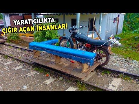 Tren Yolu Üzerinde Motosiklet Sürmek Nasıl Bir His?
