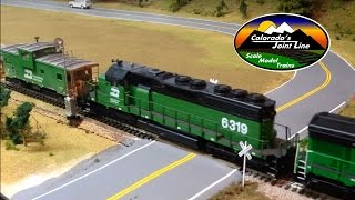 HO Scale BN Coal train with Helpers & Caboose Ops Session - Colorado Joint Line Layout Update #9
