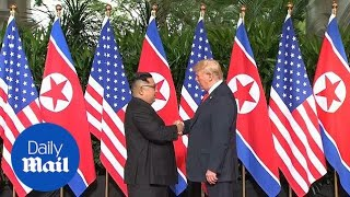 Historic moment Trump and Kim Jong-un meet in Singapore