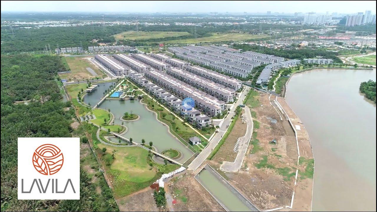 [Flycam] Khu biệt thự ven sông Lavila Kiến Á Nam Sài Gòn