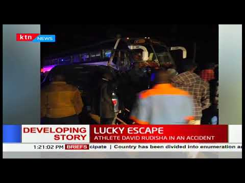 Athlete David Rudisha has been involved in a road accident