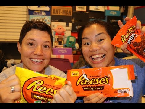 Reese's Peanut Butter Cup Challenge - With T!