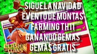 CLASH OF CLANS - CLASHVIDAD / EVENTO DE MONTAS / FARMING TH11 / BOTINACOS TH11 / GEMAS GRATIS