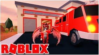 Nous avons acheté le nouveau camion de pompiers à Jailbreak 😁 Roblox