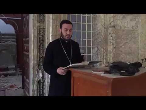 Mesmerizing Aramaic Syriac Chant at Mor Shmoni Telkaif, Iraq church after liberation from ISIS