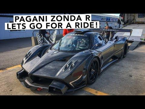 All-Carbon Pagani Zonda R Hyper Car Walk Around & Hot Lap