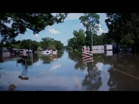 CNN drone cam shows devastation in Louisiana