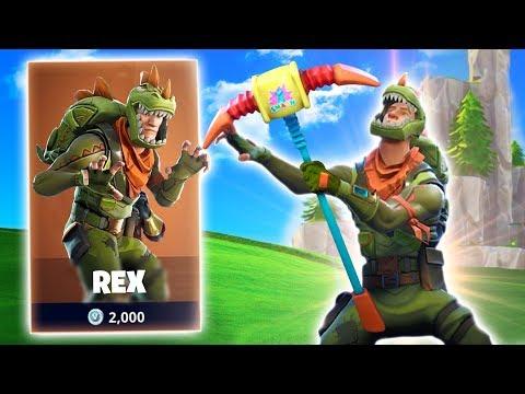 LEGENDARY REX OUTFIT! New Fortnite Battle Royale Skins! (Fortnite Battle Royale)