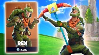 LEGENDARY REX OUTFIT! New Fortnite Battle Royale Skins! (Fortnite Battle Royale)