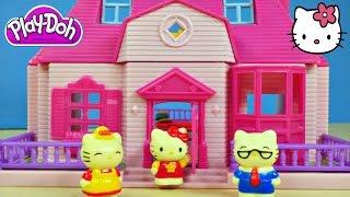 Play Doh Hello Kitty Mini Doll House Flip Out Swimming Pool Sanrio こんにちはキティの人形の家