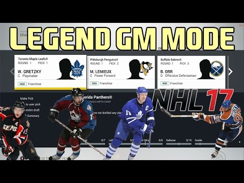 NHL 17 Legend GM Mode. You Decide!