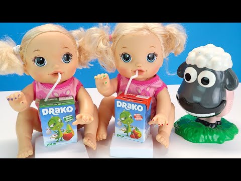 ПОССОРИЛИСЬ ИЗ ЗА СОКА Мультики Как Мама Играет в Куклы Пупсики Игрушки 108мама тв