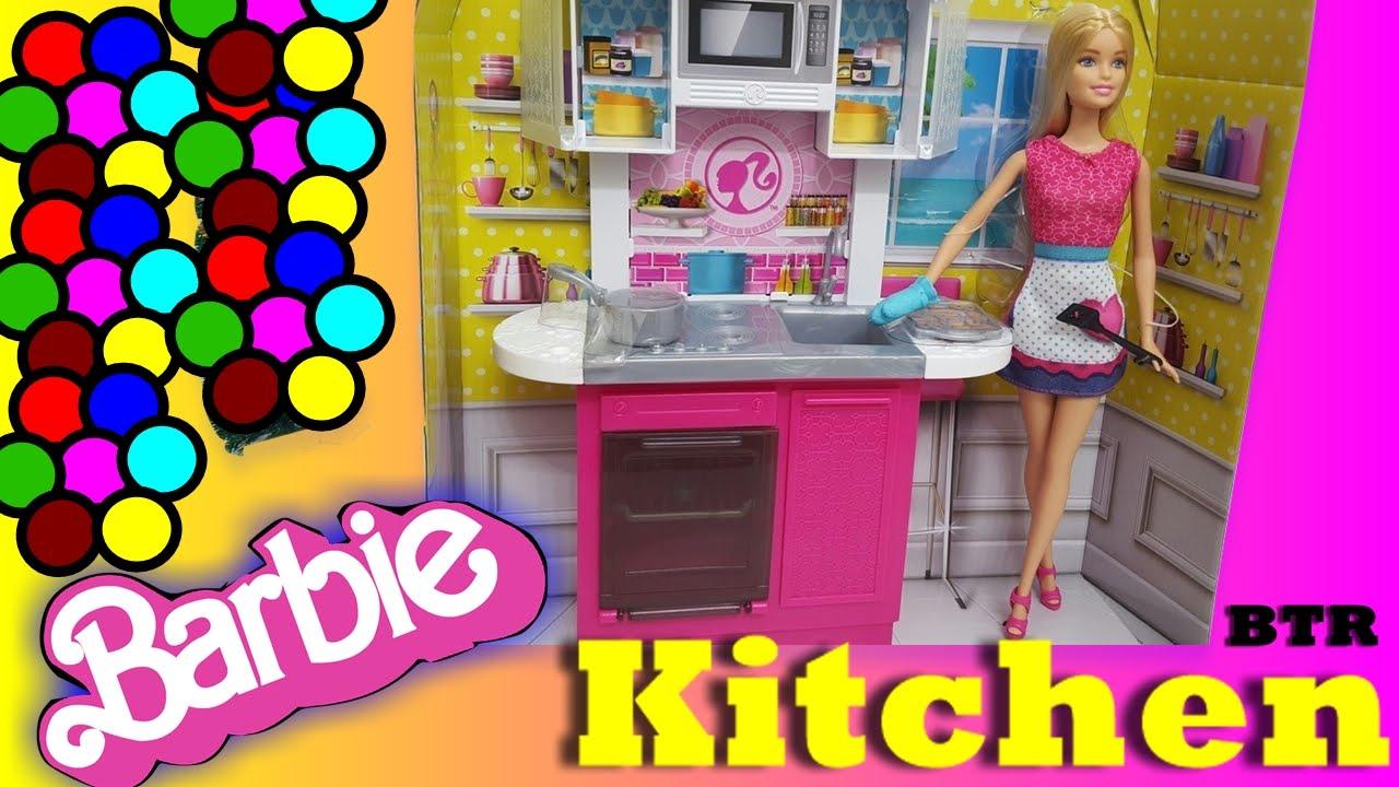 Barbie Kitchen Furniture Barbie Kitchen Watch Barbie Cook Beautiful Barbie Youtube