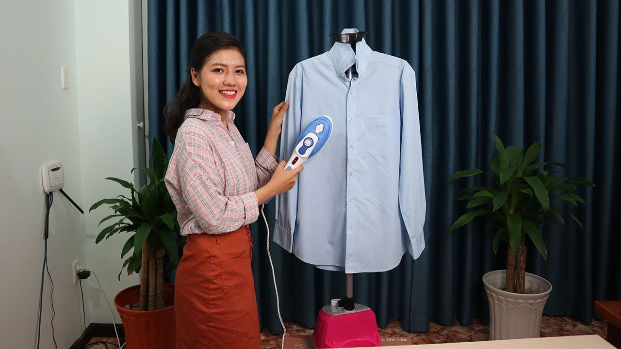 Cách ủi quần áo với bàn ủi hơi nước đứng cầm tay 2in1 Italia FIX TFT - 188A