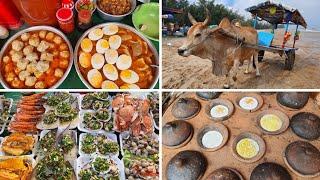 Du lịch Phan Thiết-Mũi Né #1: Đông vui CHỢ HẢI SẢN trên biển Lagi - Bánh căn xíu mại trứng RẤT NGON