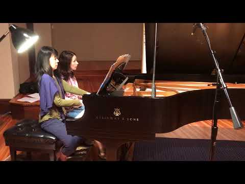 J.S. Bach Brandenburg Concerto No. 5 for Piano Four-Hands - Eleonor Bindman and Jenny Lin