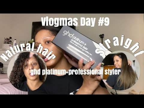 VLOGMAS DAY #9 | Trying out the GHD platinum straightener