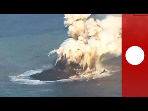 Rare video: New island emerges off Japan coast after volcano eruption