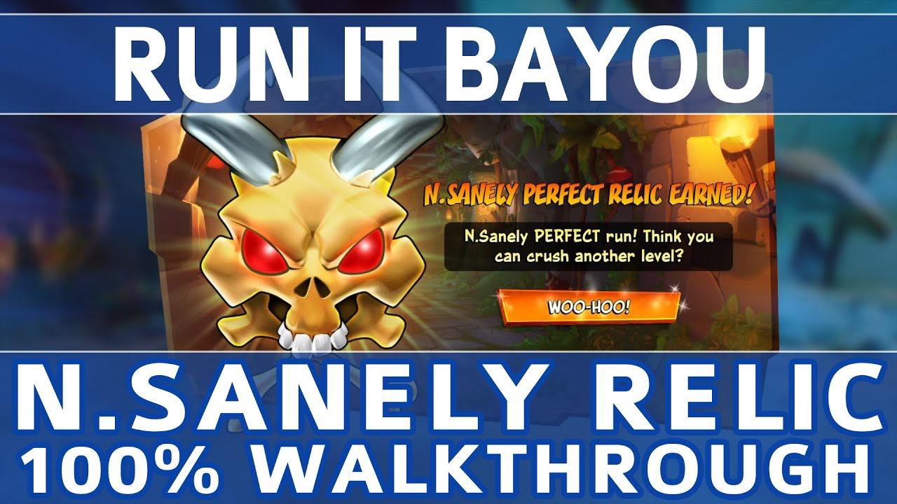 Crash Bandicoot 4 - Run it Bayou 100% Walkthrough - N.Sanely Perfect Relic (All Gems & Crates)