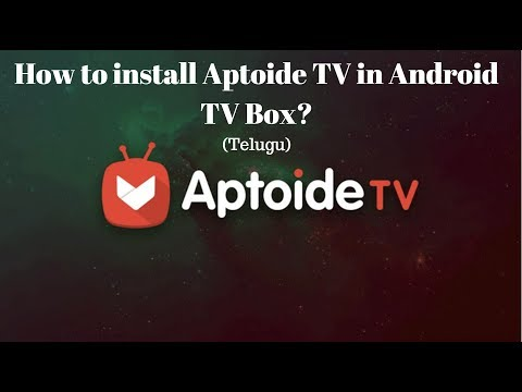 How to install Aptoide TV App in Android TV box? in Telugu