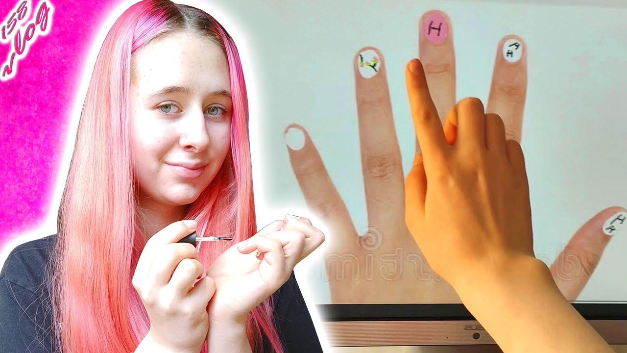 НОВЫЙ МАНИКЮР. Сделала дизайн на ногтях  по схеме из компьютера #shorts