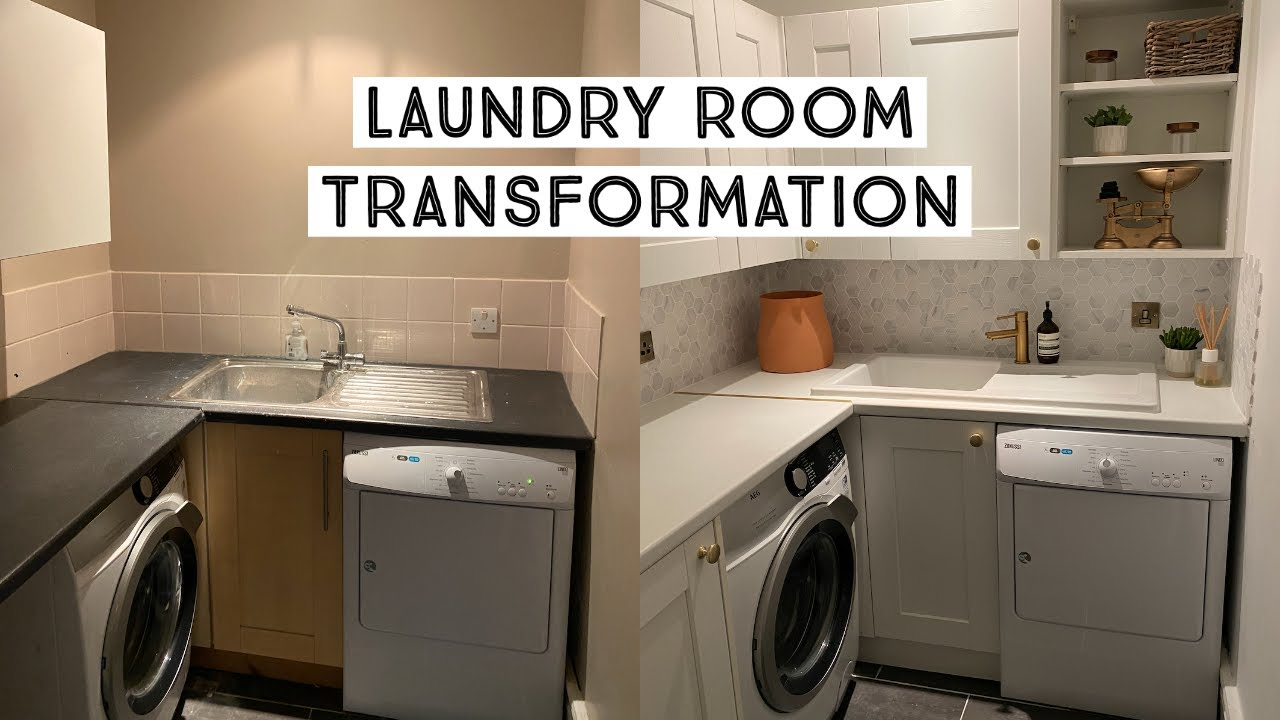 UTILITY/LAUNDRY ROOM TRANSFORMATION | BEFORE AND AFTER
