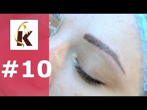 3d перманентный макияж  (татуаж ) бровей, волосковый метод- выпуск #10