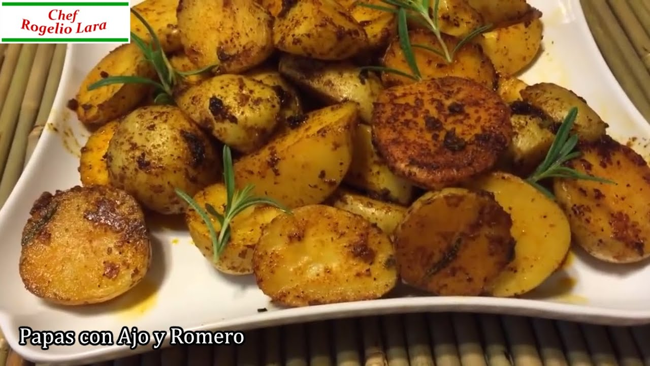 Papas al horno con ajo y romero deliciosa receta viyoutube - Recetas de bogavante al horno ...