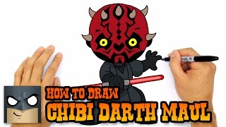 How to Draw Darth Maul (Chibi)- Star Wars Art Lesson