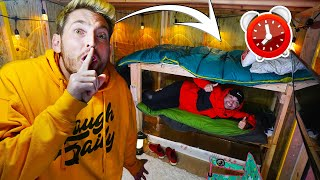 24 HOUR OVERNIGHT SURVIVAL CHALLENGE IN BUNKERS!
