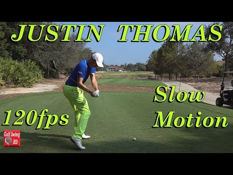 JUSTIN THOMAS 120fps SLOW MOTION DTL GOLF SWING FOOTAGE 1080 HD