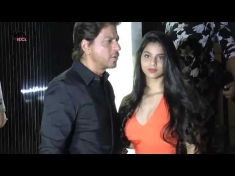 Thumbnail: Shahrukh Khan With Beautiful Daughter Suhana At Gauri Khan's Restaurant Launch