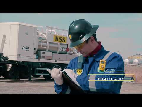 Oil tank cleaning and processing oil sludge by KSS