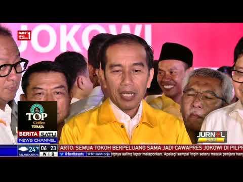 Pakai Jaket Kuning, Jokowi-Airlangga Kembali Menunjukkan Kemesraan