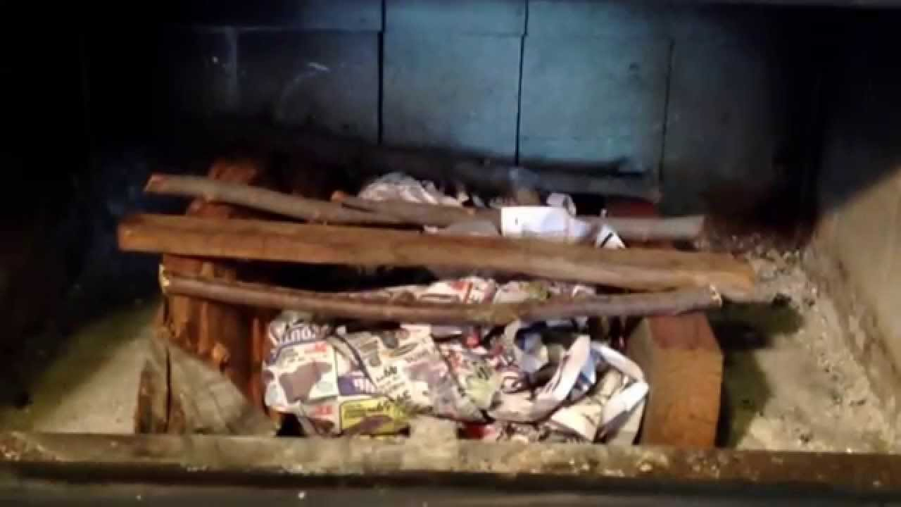 Building A Fire In A Fireplace Insert Youtube