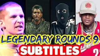 Legendary Rounds Vol 9 SUBTITLES - Conceited, Daylyt, Charron, Chef Trez | Masked Inasense