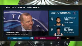 Thibs impressed with Covington's effort in Cleveland