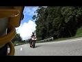 BMW S1000RR, Aprilia RSV4, Kawasaki Z800 chases by Triumph Thruxton R