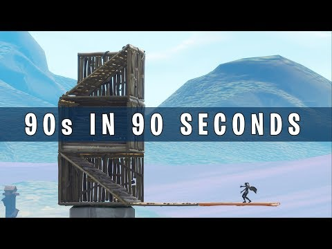 90s in 90 seconds: Very simple 90 degree turn guide for Fortnite