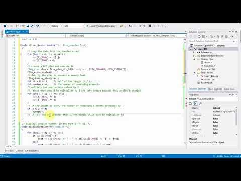 C++ Tutorial: Computing the Hilbert transform with FFTW on Windows