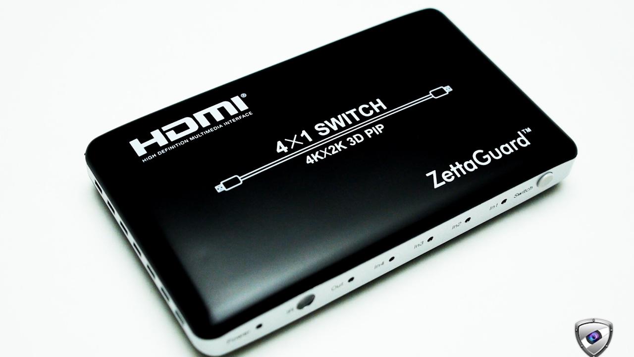 Zettaguard 4 x 1 HDMI Switch (ZW410)