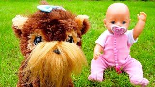 Смешные видео с куклами - Щенок для Беби Бон! - Детские игры с игрушками Baby Bon и Furreal