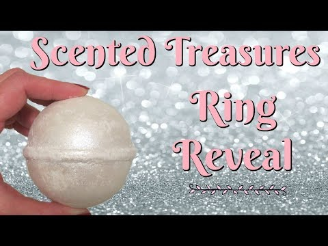 Scented Treasures Ring Reveal Sparkle Bath Bomb Youtube