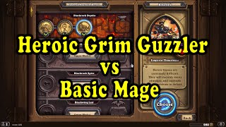 Hearthstone: Blackrock Mountain - Coren Direbrew (Grim Guzzler) Heroic - Basic Mage Deck