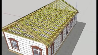 ✔ 3-D проект дома в Sketchup.Сам Себе Дом 4 [Построить дом своими руками](, 2017-04-06T07:53:59.000Z)