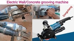 Cutting Wall/Concrete grooving machine।। wall chaser machine।। wall cutting machine