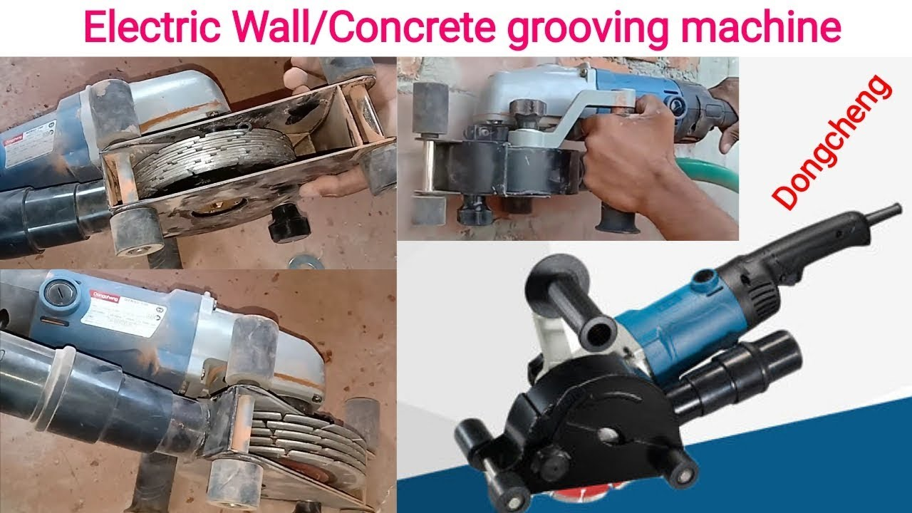 Cutting Wall Concrete Grooving Machine Wall Chaser Machine Wall Cutting Machine Youtube